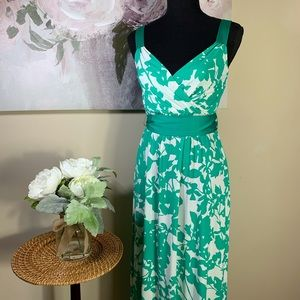 New York & Co. Maxi Green Floral Dress